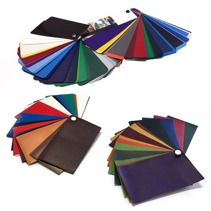 Ejemplos de muestrarios de materiales de Etxeplas